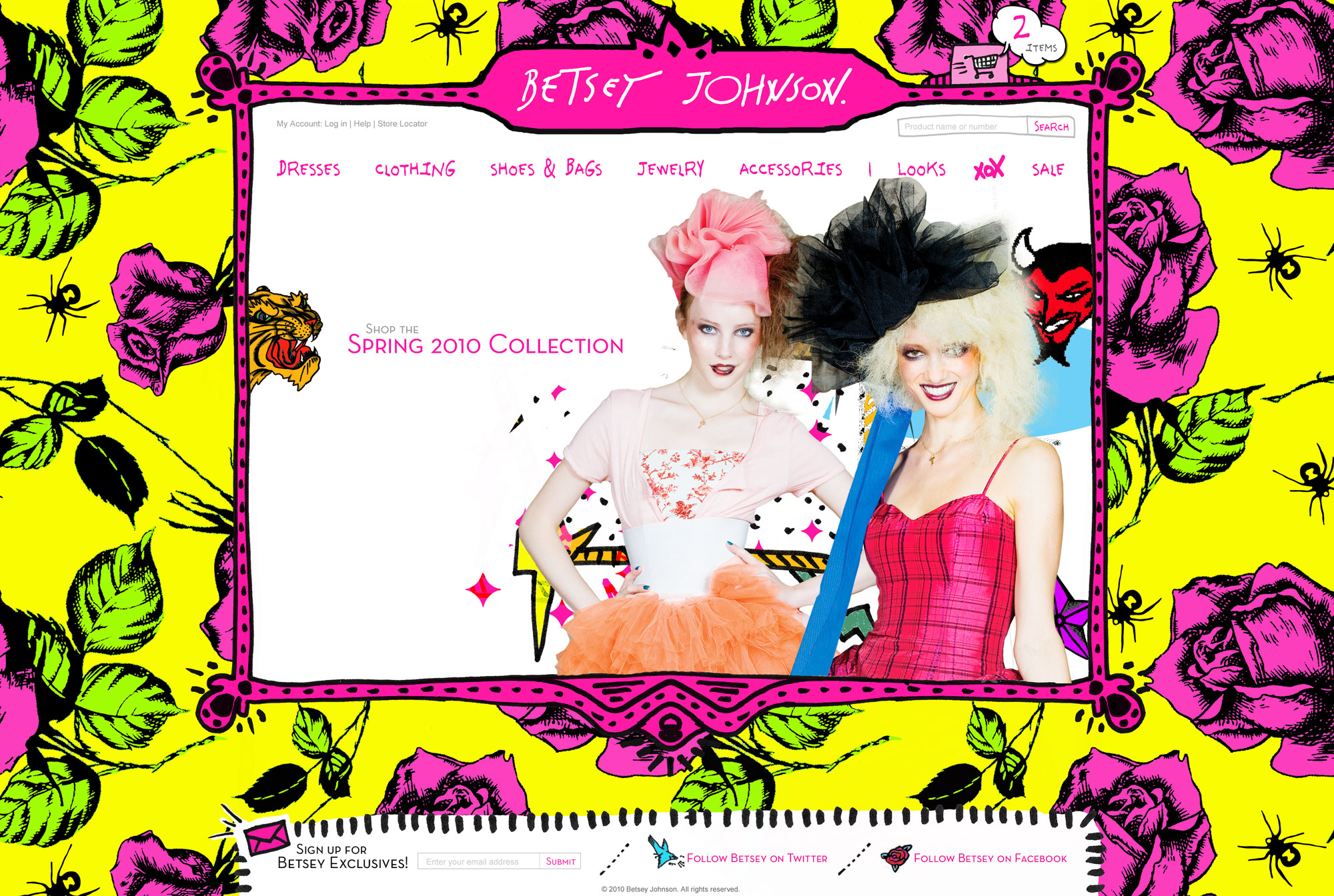 Betsey Johnson home page