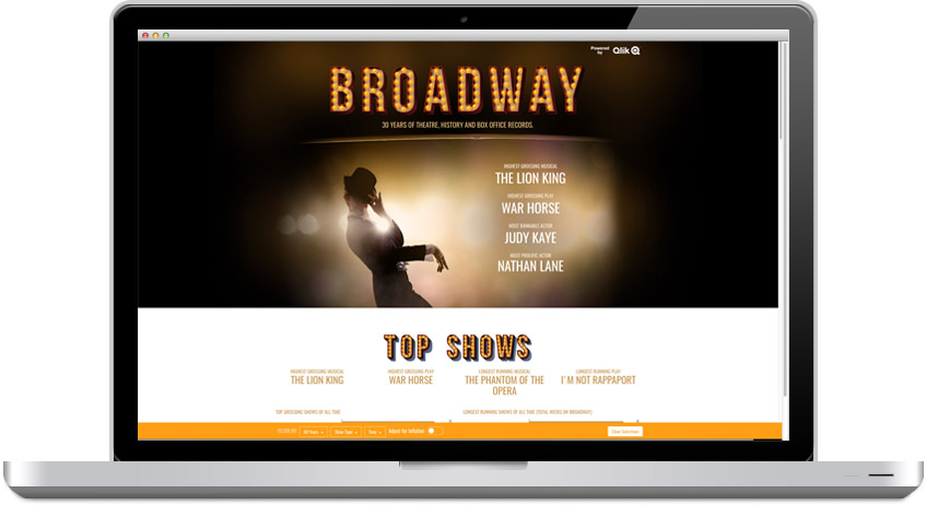 Broadway on laptop