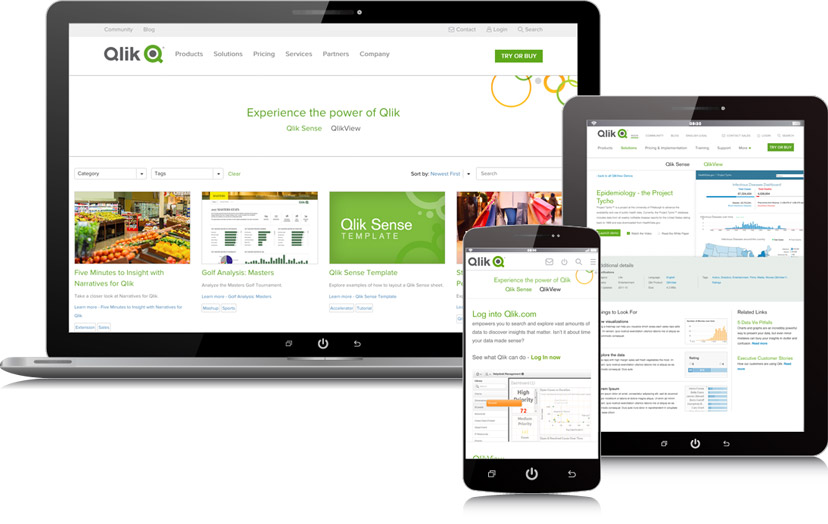 Qlik Demo Site on devices