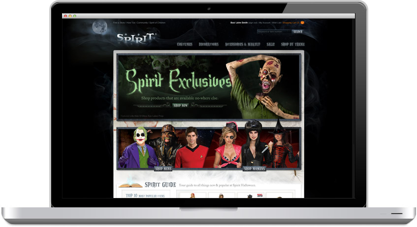 designing an ecommerce site for spirit halloween